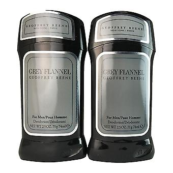 Grey flannel for men by geoffrey beene 2.5 oz deodorant stick - two