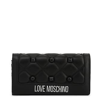Love Moschino Original Women Fall/Winter Clutch Bag - Black Color 37174