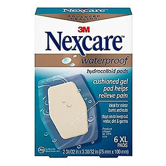 Nexcare advanced healing waterproof hydrocolloid pads, x-large, 6 ea