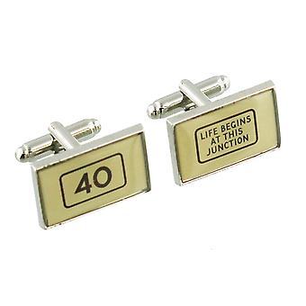 40 jaar Manchetknopen - Harvey Makin - geschenk doos - 40e verjaardag heden