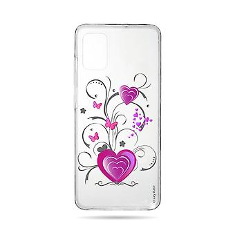 Hull For Samsung Galaxy A51 Flexible Heart And Butterfly