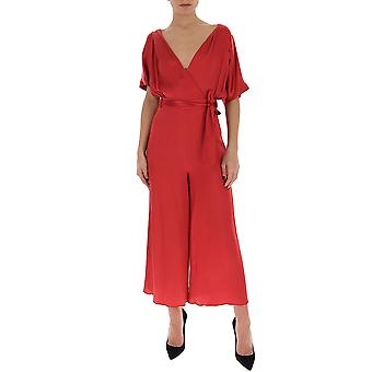 Semi-couture S0sn06d04 Women's Red Acetate Dress