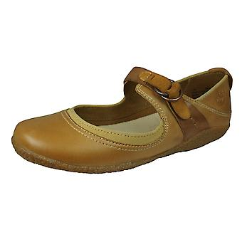 Timberland Bayden MJ Womens Leather Mary Jane Ballerina Shoes - Tan