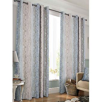 Belle Maison Lined Eyelet Curtains, Portofino Range, 46x72 Blush