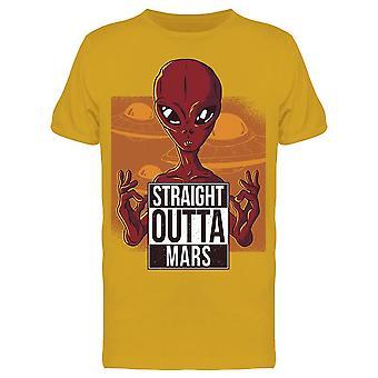 Rett Outta Mars Alien Sketch Menn & apos; s T-skjorte