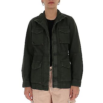 Semi-couture S0sy27s06 Women's Green Cotton Outerwear Jacket