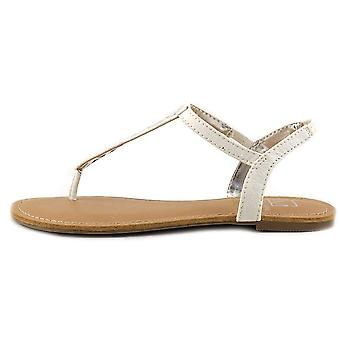 Material Girl naisten Skyler avoimen rento T-hihna sandaalit