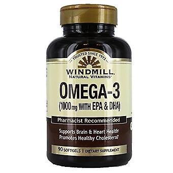 Windmill omega-3 epa & dha fish oil, 1000 mg, softgels, 90 ea