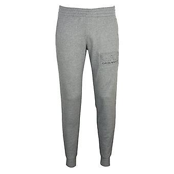 Ea7 emporio armani men's medium grey melange joggers