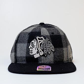 '47 Nhl Chicago Blackhawks Grey Twill Checkered Cap