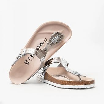 Birkenstock Gizeh 1016240 (reg) Ladies Toe Post sandalias Gator Gleam Silver
