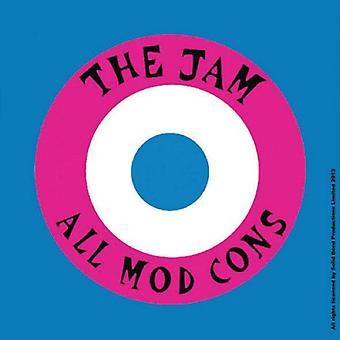 The Jam Coaster All Mod Cons new Official 9.5cm x 9.5cm single cork