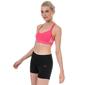 Women's adidas All Me 3-Stripes Sports Bra en rose