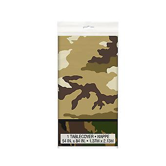 Unique Party Military Camo Plastic Tablecover