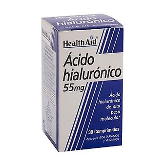Hyaluronic acid 30 tablets of 55mg