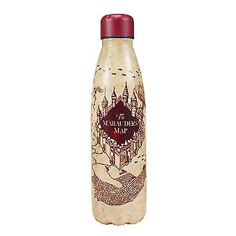 Harry Potter Water Bottle Marauders Carte Logo nouveau Métal Officiel Beige 500ml
