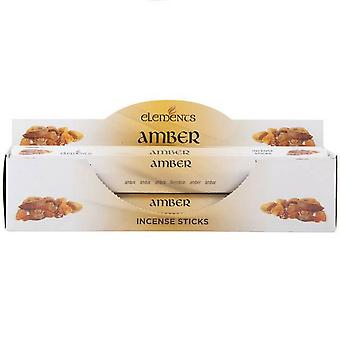 Elements Amber Incense Sticks (Box Of 6 Packs)