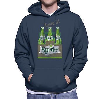 Sprite smag det 1960 ' erne retro flasker mænds Hooded sweatshirt