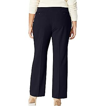 Merk - Lark & Ro Women's Plus Size Bootcut Broek Broek: Curvy Fit, Navy, 18WS