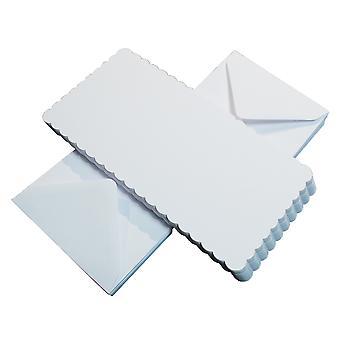 Craft UK Cards & Envelopes 6x6 Inch Scalloped White