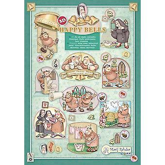 Marij Rahder Happy Bells 3D A4 Die Cut Sheet