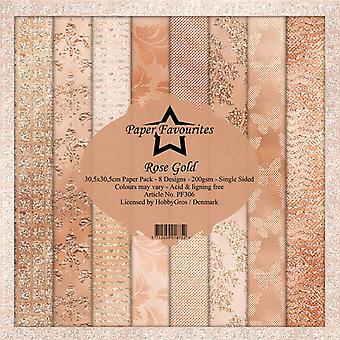 Dixi Craft Rose Gold 12x12 Inch Paper Pack