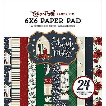 Echo Park weg in einer Krippe 6 x 6 Zoll Papierpad