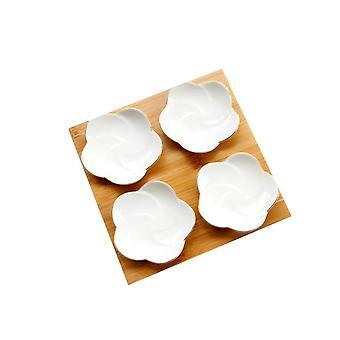 Ceramica 4 Griglie Dessert Vassoio Bianco