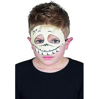 Glitter maszk koponya gyermek szemmaszk halloween koponya fél maszk