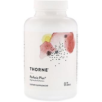 Thorne Research, Perfusia Plus, Arginine Plus Cofactors, 180 Cápsulas