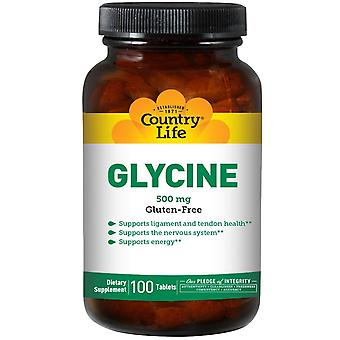 Country Life, Glycine, 500 mg, 100 Tablets
