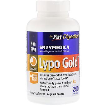 Enzymedica, Lypo Gold, Pour digestion des graisses, 240 capsules