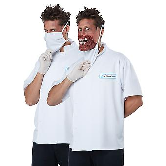Dr Novocaine Horror Doctor Killer Surgical Zombie Evil Dentist Mens Costume