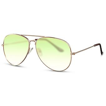 Sunglasses Unisex gold/green (CWI2404)