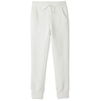 Essentials   Girls' Fleece Jogger, White, M