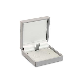 Grey Soft Touch Boîte de boucles d'oreilles postales