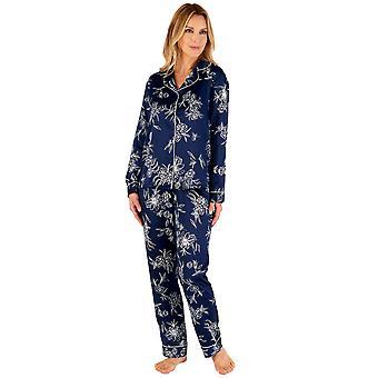 Slenderella Gaspé GL66723 Kvinnor's Navy Blue Floral Pyjama Set