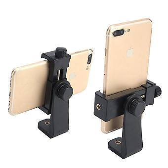 Tripod Mount/cell Phone Clipper, Vertical Bracket Smartphone Clip Holder