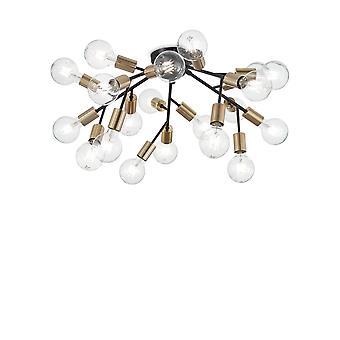 Lampada a soffitto a più braccetto interna 20 luci nero, E27