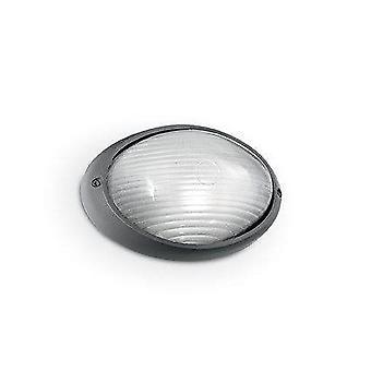 Ideal Lux Mike - 1 Licht Outdoor kleine WandLeuchte Anthrazit IP65, E27