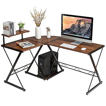 L-Shaped Corner Computer Writing Desk PC Gaming Table Home Office Workstation