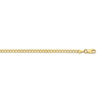 14k Yellow Gold 2.60mm Shiny Curb Type Chain Anklet With Lobster Clasp 10 Inch Jewelry Gifts for Women