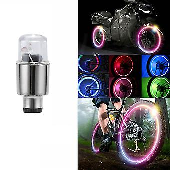 Led Car Bike Wheel Tire Valve Dust Cap Spoke Luces Flash