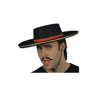 Spanish Zorro Bullfighter Hat Fancy Dress Costume Accessory