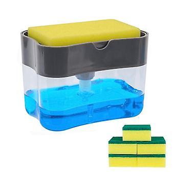 Mydło Dozownik i mydło Pump Sponge Caddy New Creative For Kitchen 2-w-1 Ręczne naciśnij dozownik mydła w płynie