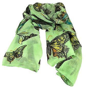 Legături Planet Butterfly & Birds Animal Print Green Lightweight Womenăs Șal Eșarfă