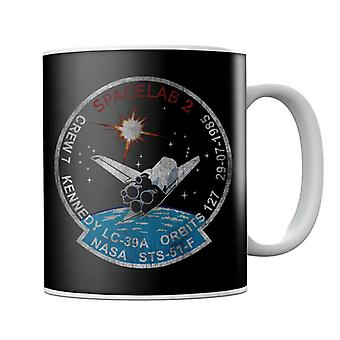 NASA STS 51 F Challenger Mission Badge Distressed Mug