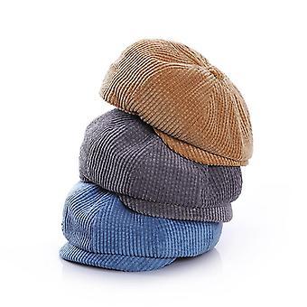 Boys Corduroy Newsboy Baby Cap - Toamna iarna Baby Hat
