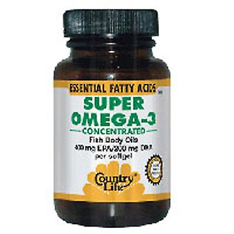 Country Life Super Omega 3 tiivistetty, 60 softgeliä