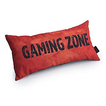 Game Over Gaming Zone Slogan - Orange | Gaming Cushion | Foam Crumb Filled | Water Resistant | Bedding and Sofa | Home D�cor